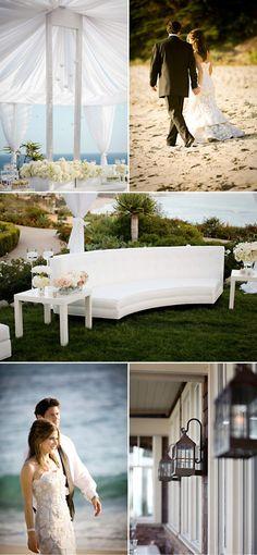 white wedding at Montage Laguna Beach
