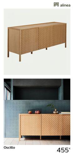 portes en bois rainurées Decoration Buffet, Deco Buffet, Furniture Styles, Furniture Design, Credenza, Sweet Home, Cabinet, Dining, Living Room