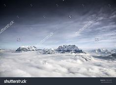 Schneeberg Mountain In Alps Near Thiersee At Kufstein In Austria, Europe. Стоковые фотографии 170212031 : Shutterstock Alps, Austria, Skiing, Royalty Free Stock Photos, Europe, Splashback, Sky, Activities, Adventure