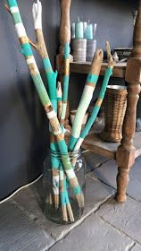 Painted driftwood in a driftwood vase # # # # # # # of a # painted # driftwood …. Painted driftwood in a driftwood vase # # # # # # # of a # painted # driftwood … – Jewelry Making Ideas Painted Driftwood, Driftwood Crafts, Driftwood Jewelry, Driftwood Ideas, Stick Art, Painted Sticks, Panel Wall Art, Barn Wood, Diy Art