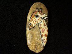 Hand Painted Giraffe on Stone