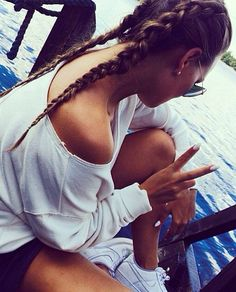So simple. Love braids