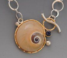 snail toggle necklace