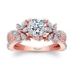 Barkev's Rose Gold Engagement Ring - 8056LP
