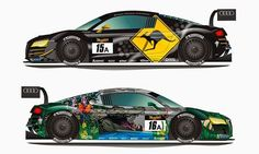 Phoenix Racing Audi R8 LMS Ultra liveries for the upcoming Bathurst 12h race.