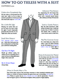 How To Go Tieless With A Suit (via @Dappered)