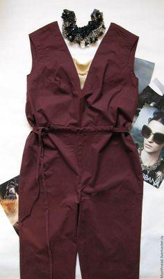 Купить Комбинезон женский Винный - одежда, одежда для женщин, для девушки, модная одежда, на выход, на праздник