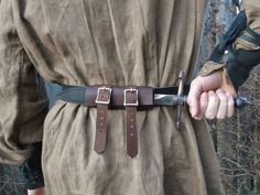 Back Dagger Sheath Leather Knife Holder  Medieval by FolkOfTheWood