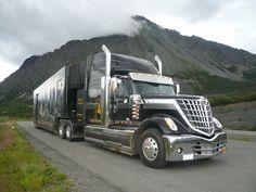 Untamed Innovation Tour Truck traveling through Alaska.
