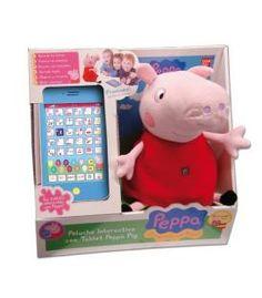 CAJA PELUCHES PEPPA PIG INTERACTIVOS +TABLET
