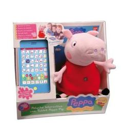 CAJA PELUCHES PEPPA PIG INTERACTIVOS +TABLET