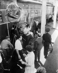 Love this film.  Behind-the-scenes photos taken during the shooting of North by Northwest (1959).