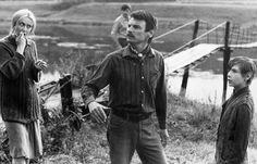 Andrei Tarkovsky on the set of Zerkalo