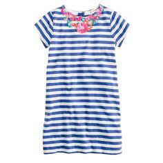 Girls stripe necklace dress J.Crew