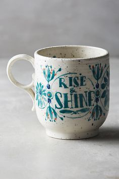 Anthropologie Sweetly Stated Mug