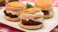 """These hearty sliders are a meal fit for any hungry guy. It's Southern-style """"Dude Food!"""""""