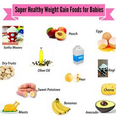 Choose the 13 super healthy weight gain foods for the growth and development of your baby!