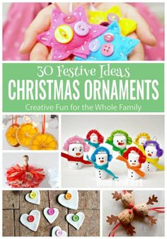 30 Wonderful Christmas Ornaments - to download - all in one place. The ideas are group by kids age and on individual pages, which make great worksheets. Create a treasure trove of keepsakes this Christmas!