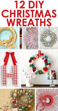 12 fun DIY Christmas wreaths from Two Twenty One! Lots of interesting ideas! Erin Jones, this one's for you!