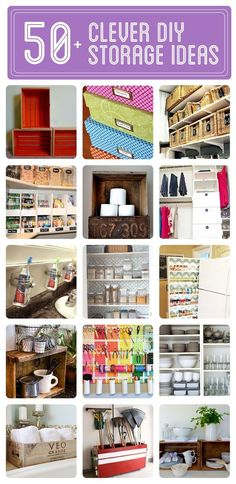 50+ Clever DIY Storage & Organization Ideas - Click to see them all! organizing ideas organizing tips #organized
