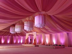 pink and orange tent draping - Google Search