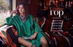 Catherine McNeil for Vogue Russia March 2014 - The Heart Of The Mountains