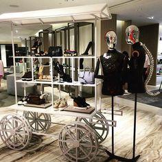 "LANE CRAWFORD, Shanghai Times Square,Shanghai,China, ""Alexander McQueen.....Mobile Display on Wheels"", pinned by Ton van der Veer"
