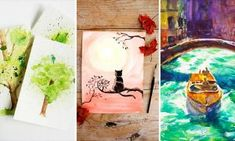 Check out our latest collection of DIY ideas featuring 15 Creative DIY Watercolor Art Tutorials To Spice Up Your Walls. Watercolor Flowers Tutorial, Watercolor Art Diy, Watercolor Walls, Watercolour Tutorials, Architecture Art Design, Diy Wind Chimes, Umbrella Art, Cool Diy, Art Tutorials