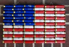 Shotgun Shell American Flag x Patriotic Wall Decor by ReadyAimCraft… Shotgun Shell Art, Shotgun Shell Crafts, Shotgun Shells, Shotgun Shell Wreath, Bullet Casing Crafts, Bullet Crafts, Bullet Art, Bullet Shell, Ammo Crafts