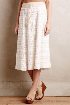 Anthropologie Crochet Maxi Skirt #anthrofave