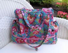 Handmade Diaper Bag Set  / Girl Diaper Bag / by KthysKreations, $120.00