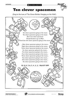 Ten Clever Spacemen Going To The Moon A Fun Action Song To Sing During A Space Theme Or Storytime Early Years Teaching Action Songs Space Theme