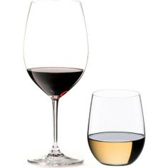 """Riedel 8-Piece Vinum Bordeaux and O Viognier Glassware Set by Riedel. Save 15 Off!. $99.85. Set of Four Vinum Bordeaux glasses and bonus set of 4 """"O"""" Viognier tumblers. Vinum is machine-made, 24-percent lead crystal; """"O"""" is machine-made, non-leaded glass. Designed to enhance the enjoyment of tasting fine wines. Vinum Bordeaux holds 21-1/2-ounce;8-7/8-inches tall; """"O"""" Viognier holds 11-1/4-ounce; 3-7/8-inches tall. Hand-washing recommended for the Vinum Bordeaux. This Riedel Vinum Bordeaux..."""