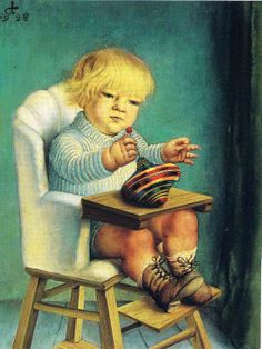 Otto Dix - The Artist's Son Ursus with Spintop, 1928