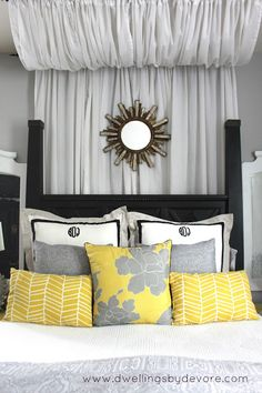 I could live without the canopy. I like the pillows, fabrics used and the monogram.