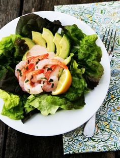 This salad is the perfect combination of flavors. Avocado-Shrimp-Salad by @savorysweetlife