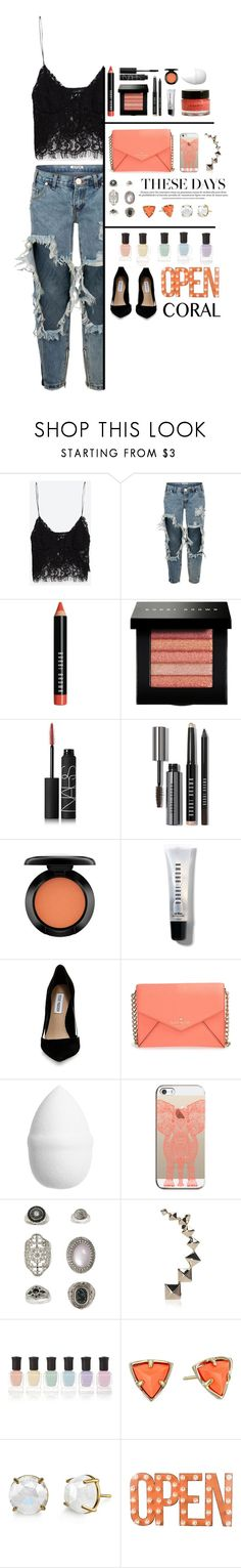 """""""#57"""" by yvmackelenberg ❤ liked on Polyvore featuring Zara, OneTeaspoon, Bobbi Brown Cosmetics, NARS Cosmetics, MAC Cosmetics, Steve Madden, Kate Spade, H&M, Casetify and Topshop"""