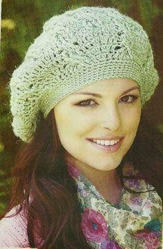Patrón #523: Boina Verde a Crochet #ctejidas http://blgs.co/juA6By