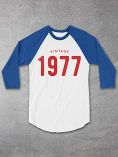 40th Birthday Ideas - Vintage 1977 Baseball Tee for Men and Women - 40th Birthday Gifts - 40th birthday gifts for women - Cool Graphic Tees