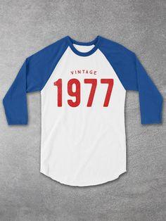 Vintage 1977 Baseball Tee - Cool Graphic Tees
