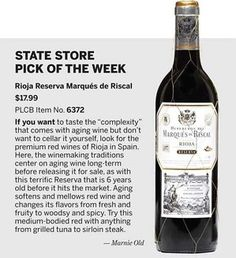 Rioja Reserva Marques de Riscal