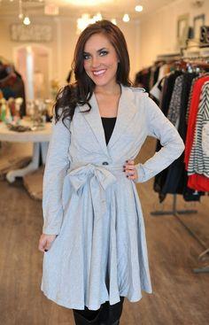 Dottie Couture Boutique -  Grey Knit Jacket, $72.00 (http://www.dottiecouture.com/grey-knit-jacket-1/)