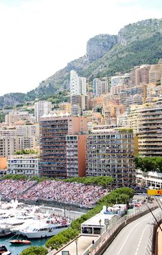 The stands are packed. Ready for the main event, Monaco. Monaco Grand Prix.