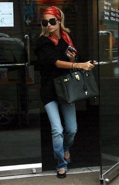 la modella mafia Model Street Style - Nicole Richie boho chic fashion 5