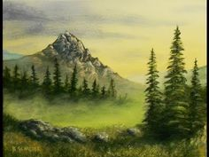 Learn How To Paint A Mountain Scene by Acrylic Artist Brandon Schaefer