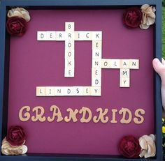 Grandma gift - How cute - and it looks easy enough that I think I can do it!