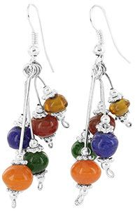 "Twist of Fate Glass Beaded Earrings at The Animal Rescue Site ""The GreaterGood Site"""