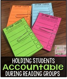 Could be used in early elementary for some small group tasks to keep students accountable. Student-led reading groups in an upper elementary classroom. This contains a self-assessment piece (FREEBIE! Guided Reading Groups, Reading Lessons, Reading Skills, Teaching Reading, Reading Centers, Reading Strategies, Reading Comprehension, Small Group Reading, Close Reading