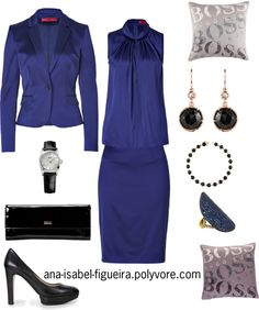 """Dark Purple by Hugo Boss"" by ana-isabel-figueira on Polyvore"