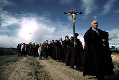 A religious procession in Zamora province, Bercianos de Aliste, Spain 1977 - by David Alan Harvey (1944), USA
